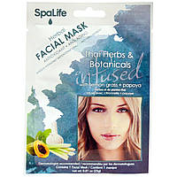 My Spa Life, Травяная маска для лица,Тайские травы & растения, С лемонграссом + папайей, 1 маска