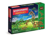 Магнитный конструктор Динозавры, 65 элементов, серия Дино, Magformers