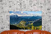 """Картина на холсте """"Гора Салфер. Канада. Природа"""".  70х40 см."""