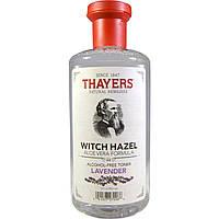 Thayers, Гамамелис, формула с алоэ вера, тоник не содержащий спирта, лаванда, 12 жидких унций (355 мл)
