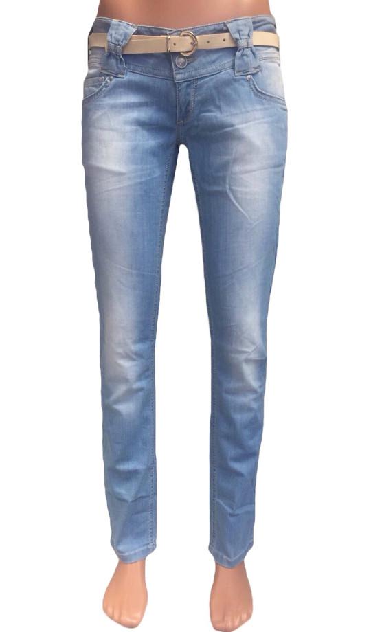 Зауженные джинсы женские Just point 352 голубые