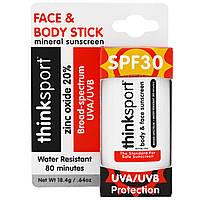 Think, Thinksport, солнцезащитный карандаш, фактор защиты от солнца 30, 0,64 унции (18,4 г)