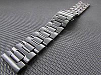 Браслет для часов керамический. Черный. 22-й размер., фото 1