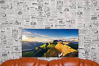 """Картина на холсте """"Горный хребет. Пейзаж. Природа"""". 60х30 см."""