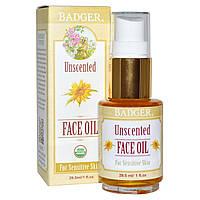 Badger Company, Масло для кожи лица без запаха, для чувствительной кожи, 1 жидкая унция (29.5 мл)