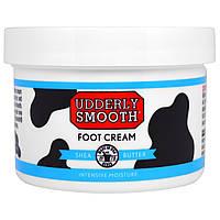 Udderly Smooth, Крем для ног с маслом дерева ши, 8 унций (227 г)