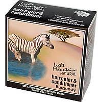 Light Mountain, Натуральный краситель и кондиционер для волос, бордовый, 113 г