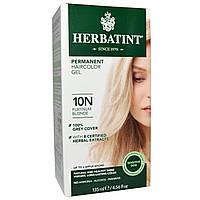 Herbatint, Перманентная краска-гель для волос, 10N, платиновый блондин, 4,56 жидкой унции (135 мл)