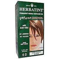 Herbatint, Стойкий растительный гель-краска для волос, 6D, темный пепельный блонд, 4,56 жидких унции (135 мл)