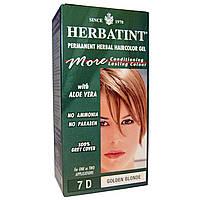 Herbatint, Стойкий растительный гель-краска для волос, 7D, золотой блонд, 4,56 жидких унции (135 мл)