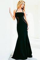 Красивое Длинное Вечернее Платье Фасон Русалка Черное DL-6947