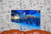 """Картина на холсте """"Зимний Лес. Природа"""". 60х40 см."""