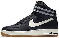 Мужские кроссовки Nike Air Force 1 High 07 Black Wolf Grey, найк, айр форс