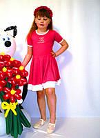 Платье полоса (малина)