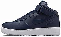 Мужские кроссовки NikeLab Air Force 1 Mid Obsidian, найк, айр форс