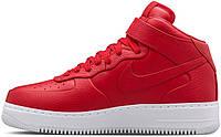Мужские кроссовки NikeLab Air Force 1 Mid Gum Red, найк, айр форс