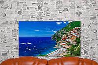 """Картина на холсте """"Сорренто. Италия. Природа"""". 70х40 см."""