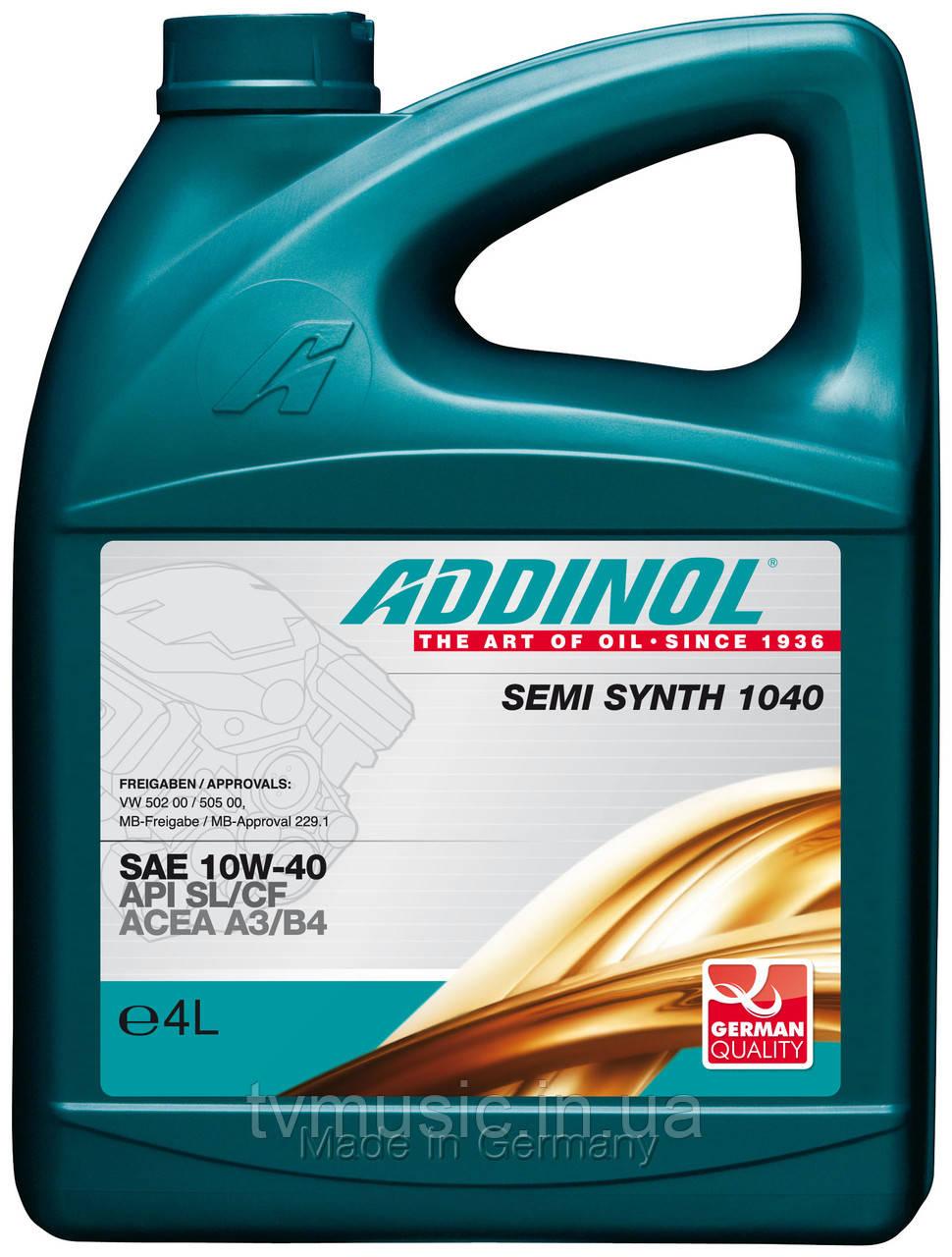 Масло моторное ADDINOL SEMI SYNTH 1040 (10W-40) 4L