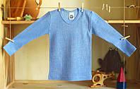 Cosilana Термокофта Cosilana unisex c длинным рукавом из хлопка, шерсти и шелка голубого цвета