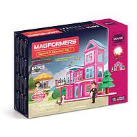 Магнитный конструктор Дом милый дом, 64 элемента, серия Строительство домов, Magformers