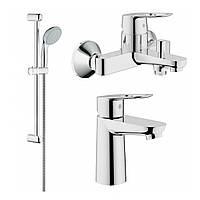 Комплект смесителей для умывальника и ванной Grohe BauLoop 123214/1