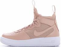 Женские кроссовки Nike Air Force 1 Ultraforce Mid Vachetta Tan White, найк, айр форс