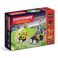 Магнитный конструктор Зоо гонки, 55 элементов, серия Средства передвижения, Magformers