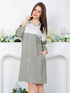 Платье-рубашка Джоелл оливковое