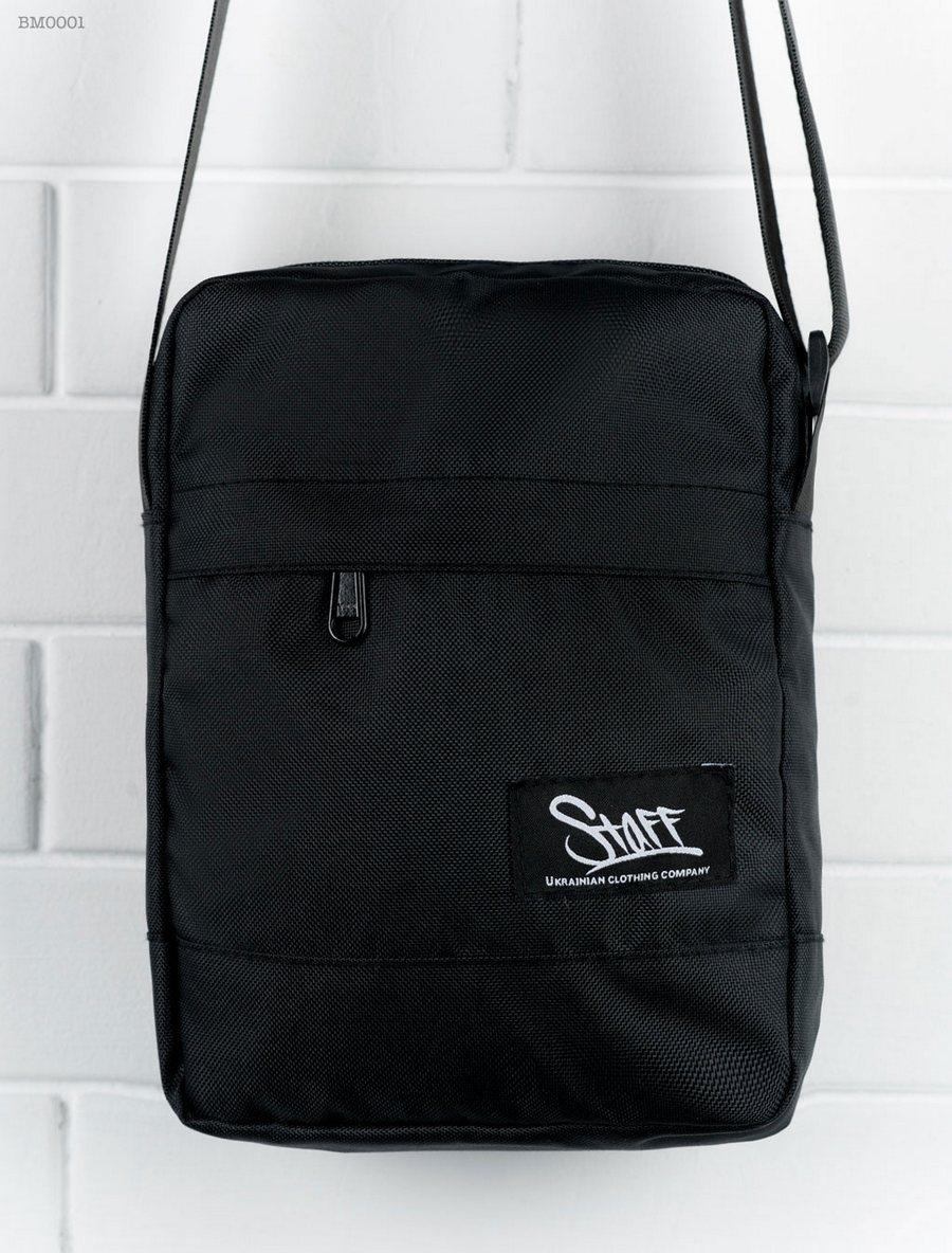 07671d4e21d8 Сумка через плечо черная Staff BLACK BM0001 - интернет-магазин