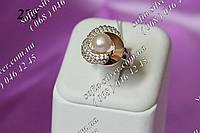 """Серебряное кольцо с золотом  """"225"""""""