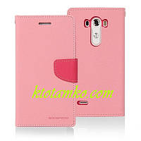 Чехол Book Cover Goospery LG Max/X155 Pink