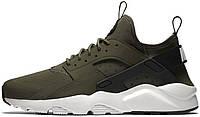 Мужские кроссовки Nike Air Huarache Run Ultra CARGO KHAKI LIGHT BONE BLACK, найк, айр хуараче