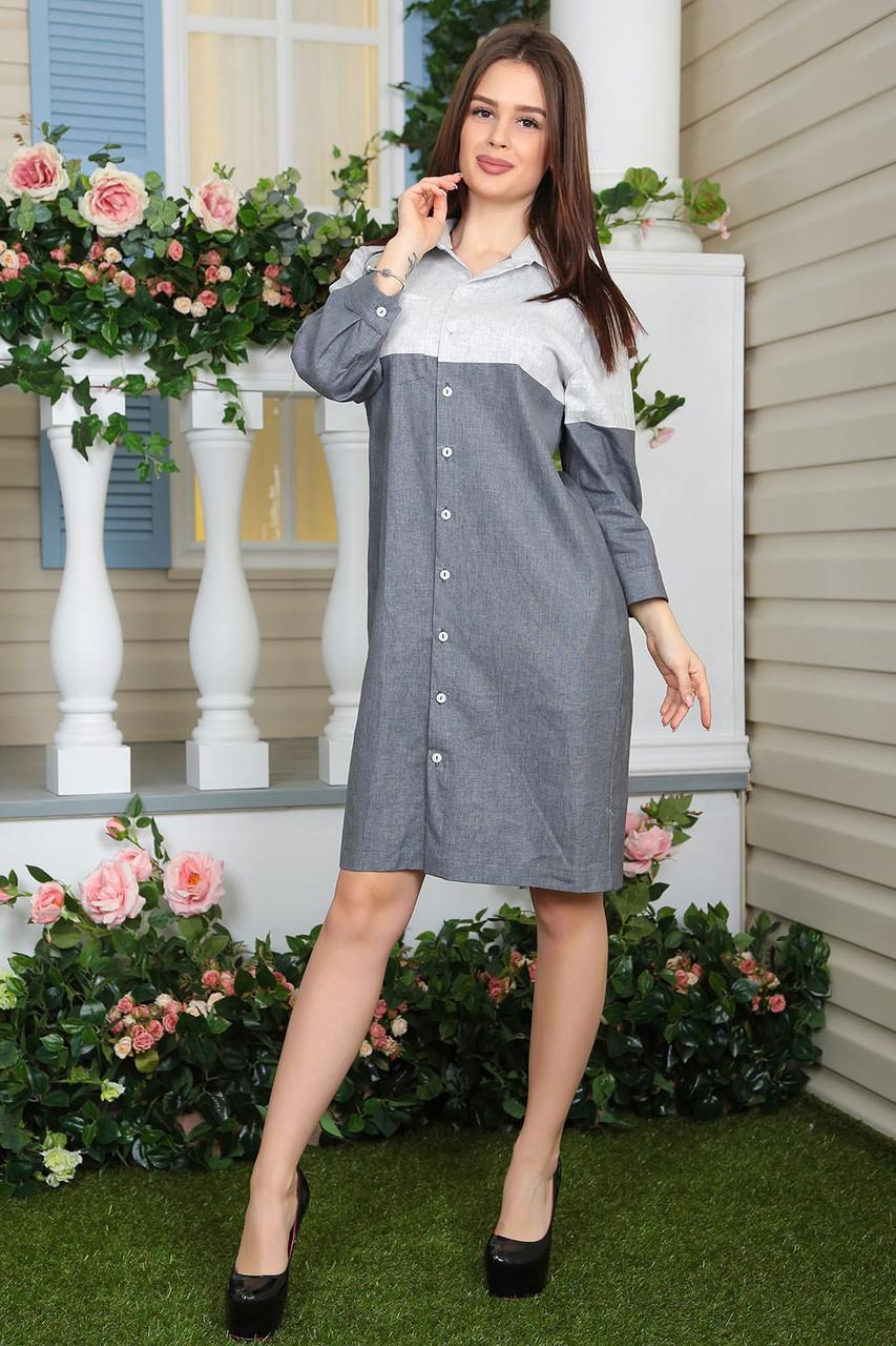 Платье-рубашка Джоелл серое