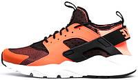 Женские кроссовки Nike Air Huarache Run Ultra total crimson black, найк, айр хуараче