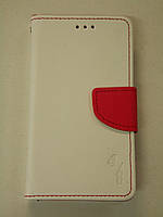 "Чехол-книжка 4you Fancy 4,5""-4,8"" white/red универсальная"