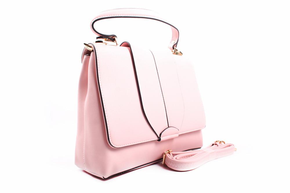 Стильная сумка Bonilarti Oalengi эко-кожа, цвет розовый, квадрат, средняя