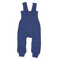 Disana (Германия) Штаны вязанные на лямках Disana 100% шерсть синие