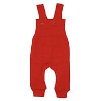 Disana (Германия) Штаны вязаные на лямках Disana 100% шерсть мериноса красные