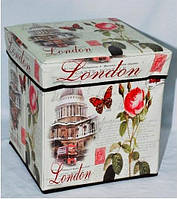 """Раскладной пуф """"Лондон""""  31-31-31 см"""