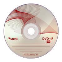 """Диск DVD+R Axent """"Bulk"""" 8108-A, 4,7GB/120min, скорость записи 16X"""