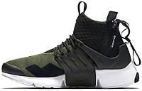 Мужские кроссовки ACRONYM x NikeLab Air Presto Mid Olive/Black, найк айр престо