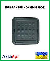 """Канализационный люк """"Ромашка"""" полимерный (чёрный) 1,5т 260х370"""