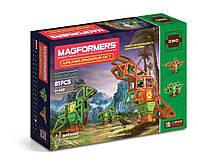 Магнитный конструктор Оживший динозавр, 81 элемент, серия Дино, Magformers