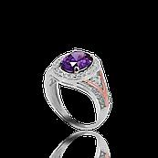Серебряное кольцо МЕЧТА 925 пробы с накладками золота 375 пробы.Серебряное кольцо с золотой пластиной