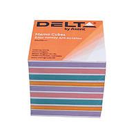 """Бумага Delta D8025 """"Color"""" для заметок, 90х90х80 мм, непроклееная"""