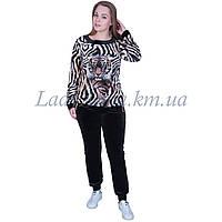 Спортивный костюм женский с тигром. Турция