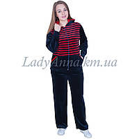 Спортивный костюм женский с капюшоном велюровый Украина