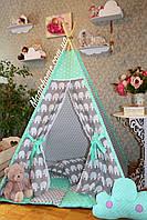 """Детский игровой домик, вигвам, палатка, шатер, шалаш """"Мятный слон"""", фото 1"""