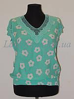 Блузка с ажуром и цветами