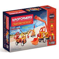 Магнитный конструктор Строительная техника, 47 элеметов, серия Средства передвижения, Magformers